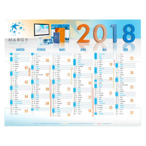 Banking calendar 2018 - Margy Consultants Advertising calendars manufacturer