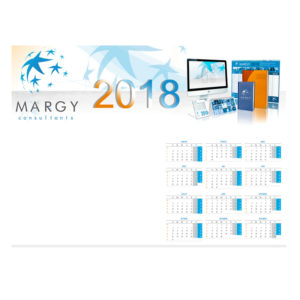 Desk blotter calendar - Margy Consultants Advertising diaries manufacturer