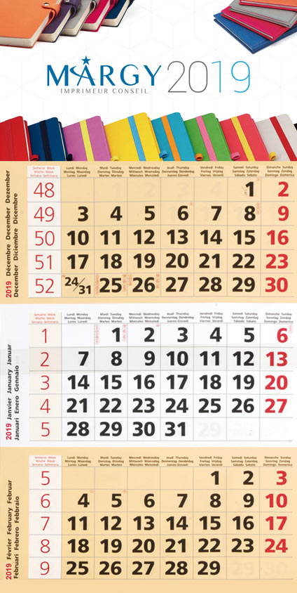 3 month calendar - Margy Printer consultancy