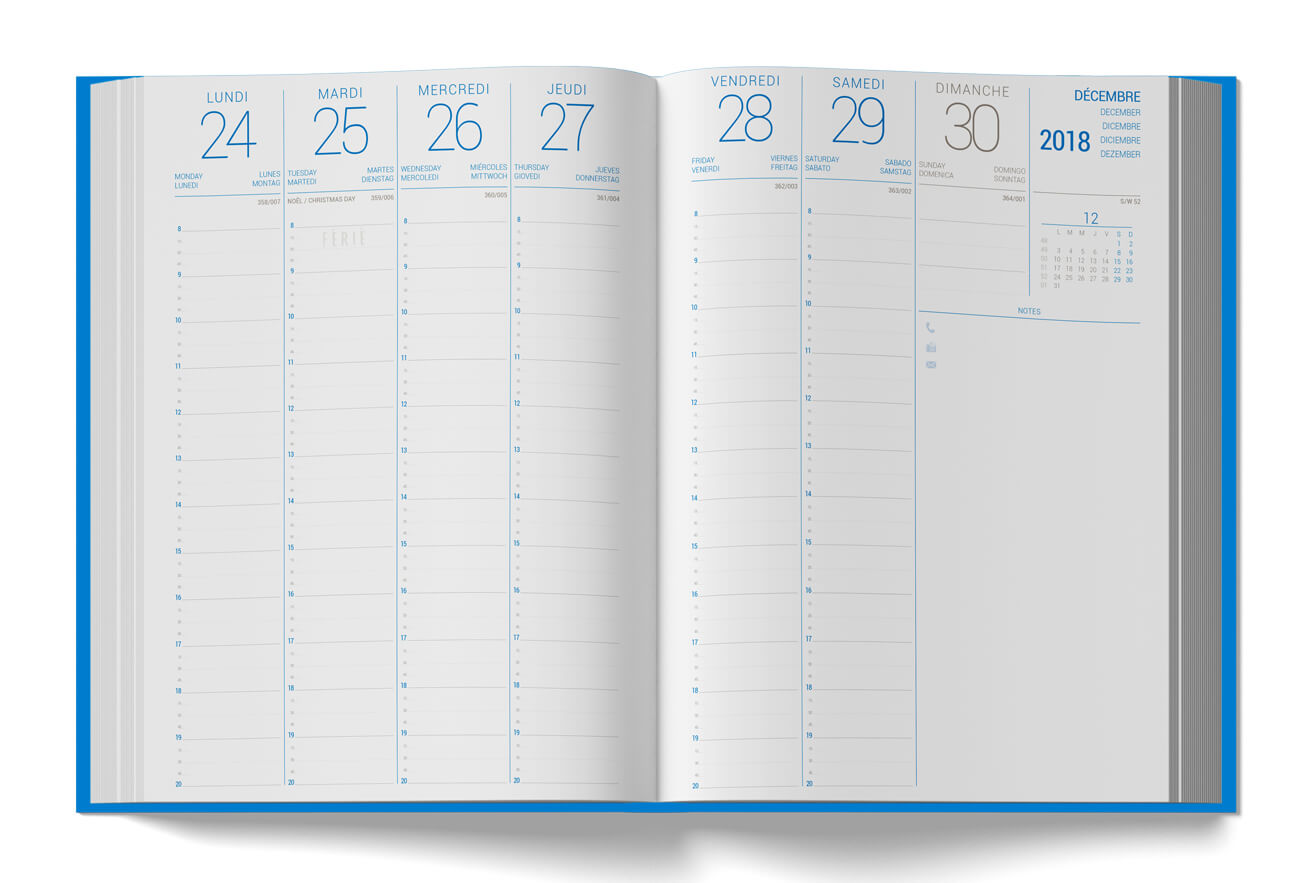 Diary grid Margy Consultants Printer consultancy