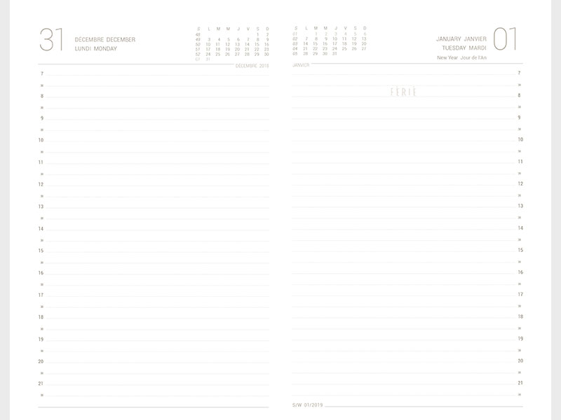Advertising diary grid Margy Consultants Printer consultancy