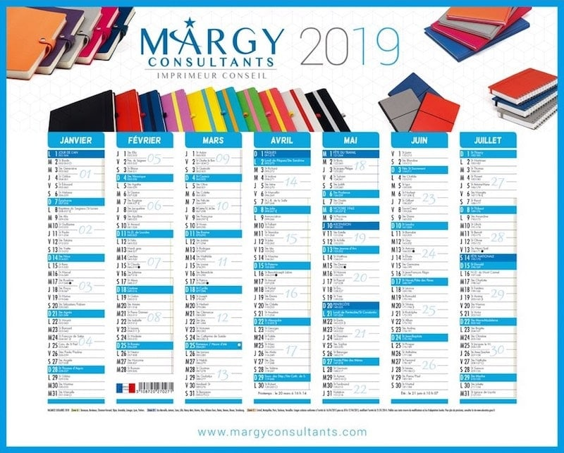 Margy Consultants Calendrier Bancaire Couv