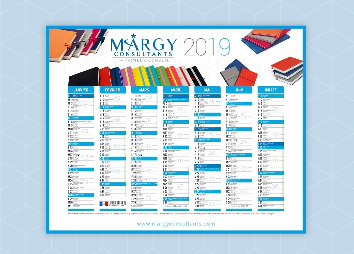Margy Consultants Calendrier Bancaire