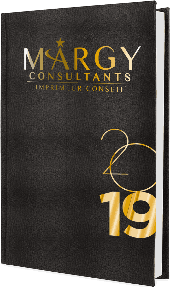 Margy Consultants Journalier 14x215 Cm Couverture Armonia Noire Marquage Or